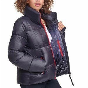 Tommy Hilfiger Women's Puffer Thumbholes Coat